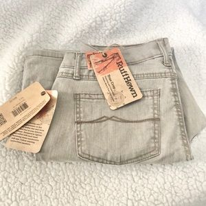 Rough hewn it true crop washed tan pants Size 6